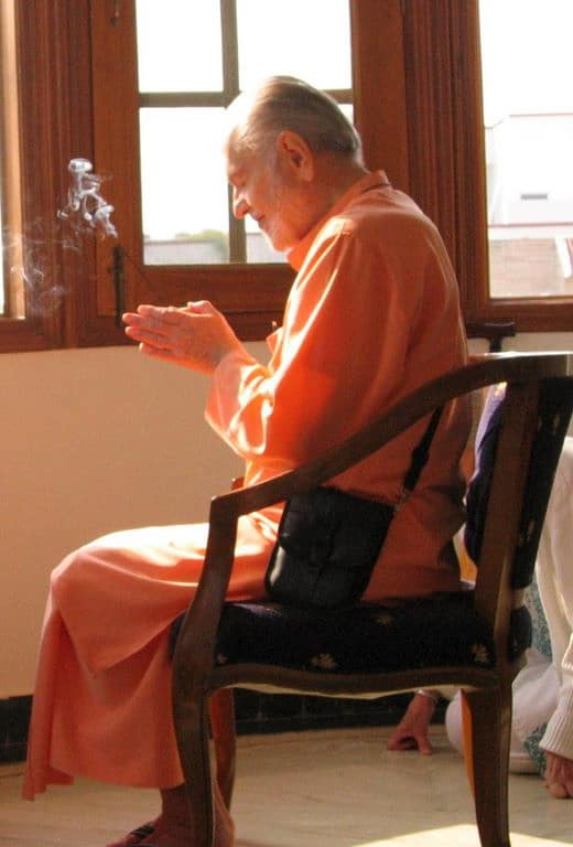 Swami Kriyananda with Incense