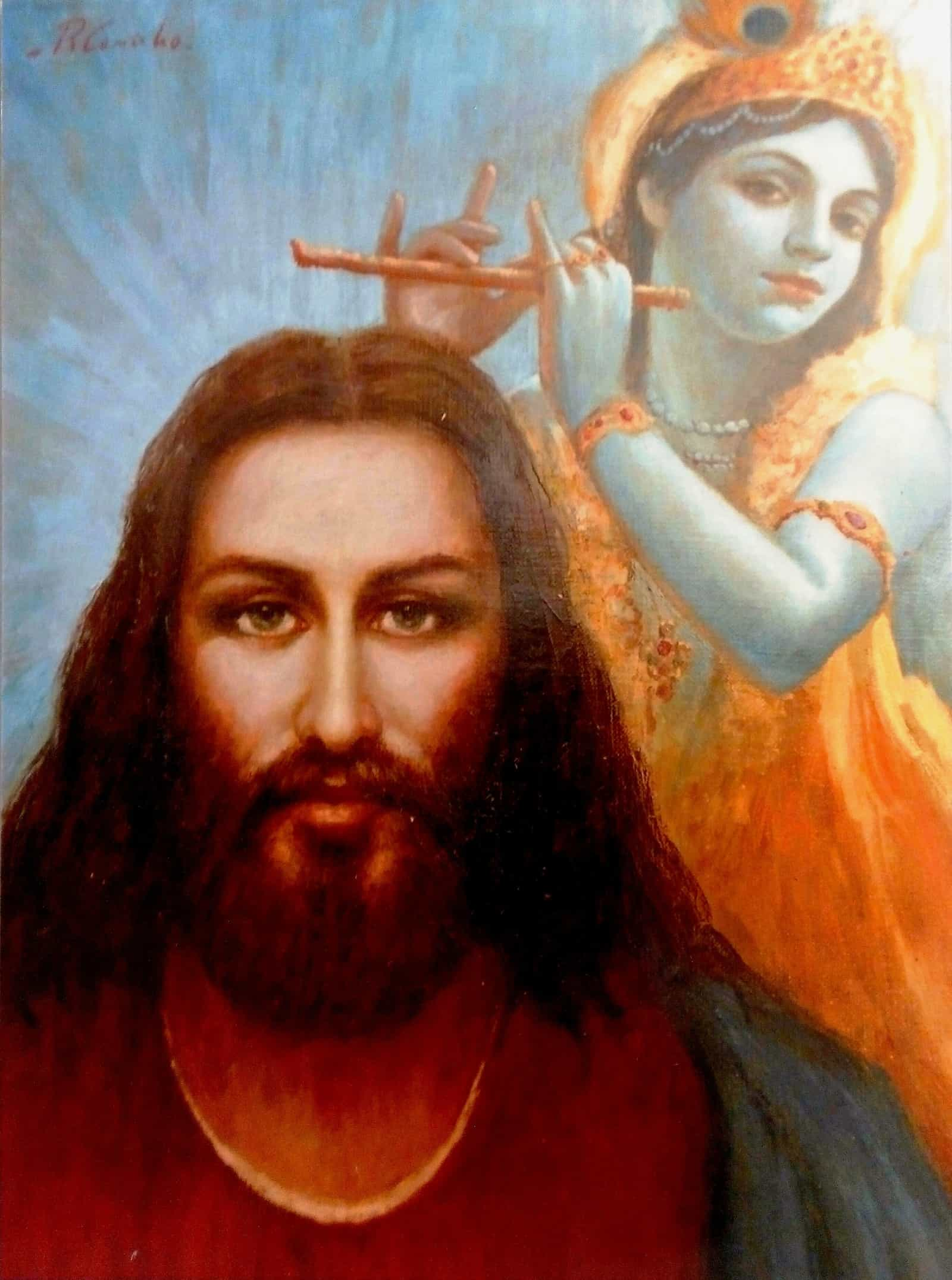 Jesus Christ with Lord Krishna