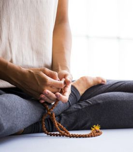 meditation with mala