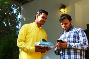 Aditya and Participant connecting at Spiritual Fair