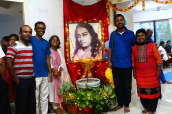 Ananda Pune Devotees with Picture of Yogananda
