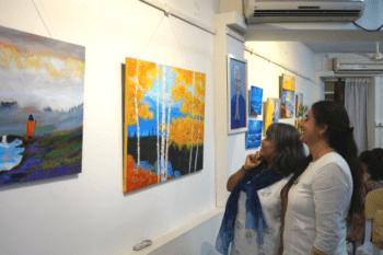 Sangeeta Watching Jyotish's Art
